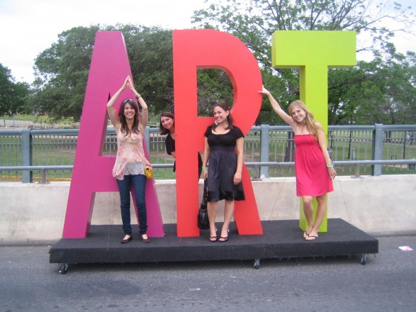 Left to Right: Samantha Adams, Me, Emily Upfal, Barrie Berkson at Art City Austin 2009