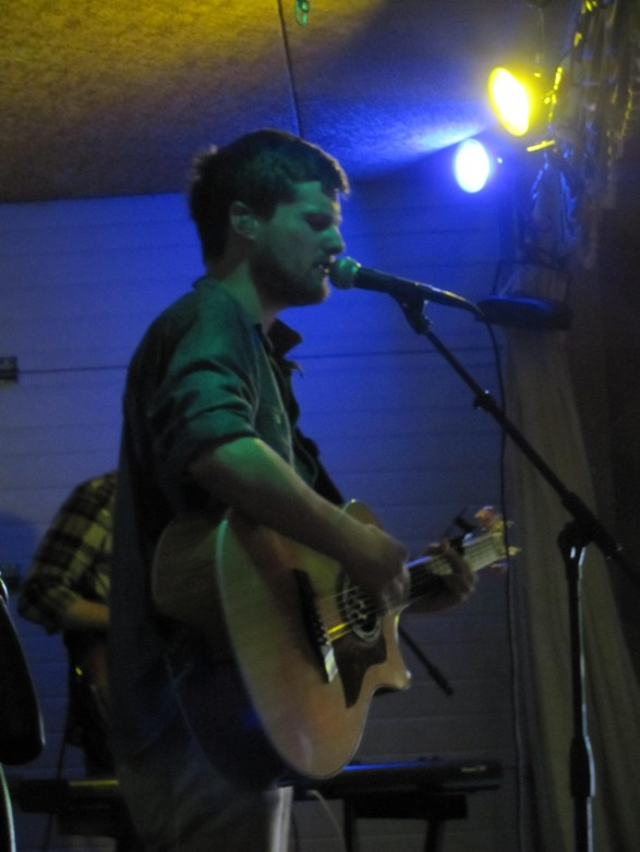 Lead singer Austin Jones' voice eminates from the stage.