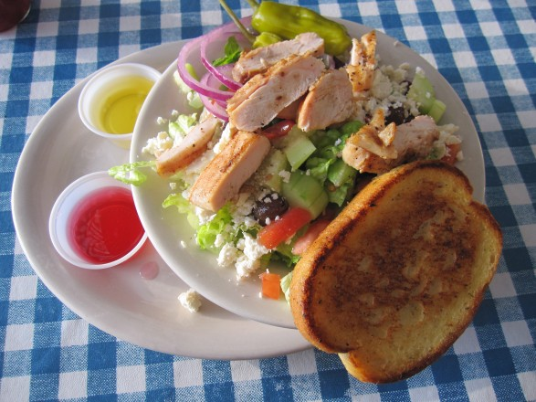 Small Greek Salad w/ Chicken @ Auslander