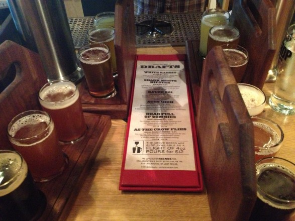 beer flight DryHop Brewers Chicago Lakeview