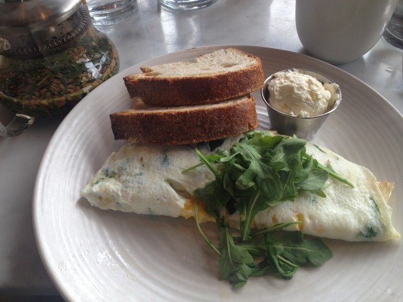 Spinach and kale omelette - brunch at Summerhouse Santa Monica in Lincoln Park in Chicago