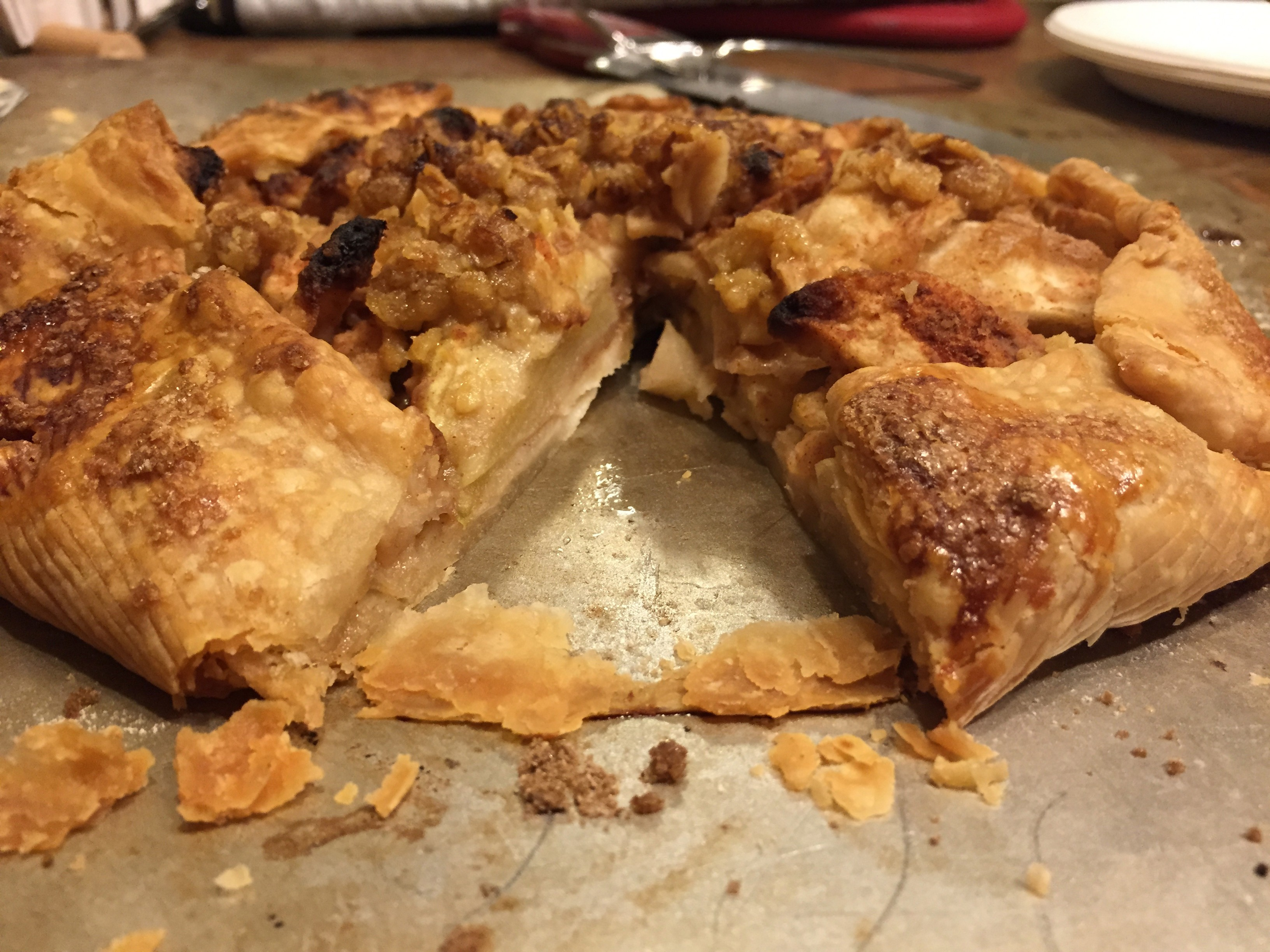Rustic apple Pie Crostata Rosh Hashanah Dessert Recipe