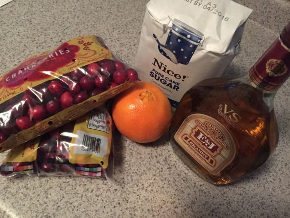 Orange Brandy Cranberry Sauce Ingredients Thanksgiving recipe